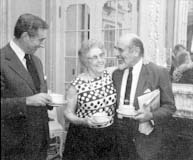 Drs. Frank Seixas, Ruth Fox, and Maxwell N. Weisman in 1973