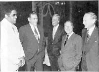 Don Newcomb, Harold E. Hughes, Dick Van Dyke, Garry Moore and Buzz Aldrin