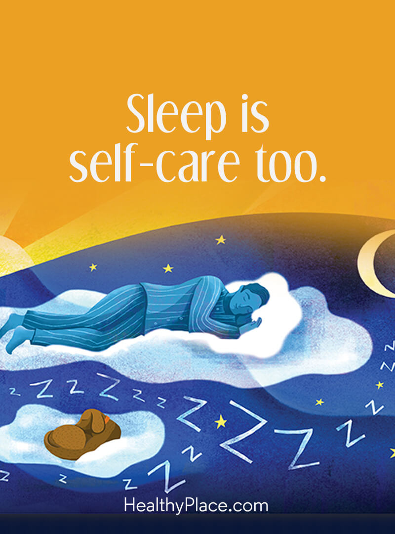 Quote on mental health - Sleep is self-care too.