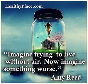 Insightful addiction quote - Imagine trying to live without air. Now imagine something worse.