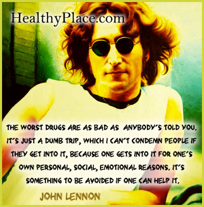 Quote on addictions - The worst drugs are as bad as anybody's told you. It's just a dumb trip, which I can't condemn people if they get into it, because one gets into it for one's own personal, social, emotional reasons. It's something to be avoided if one can help it.