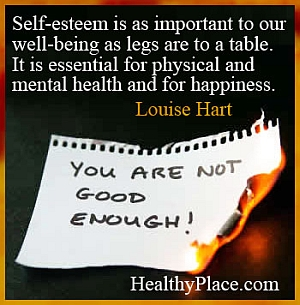 Quote on mental health - Self-esteem is as important to our well-being as legs are to a table. It is essential for physical and mental health and for happiness.