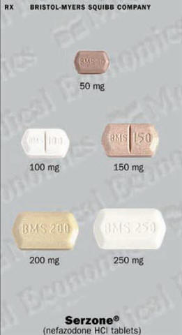 Serzone prescription