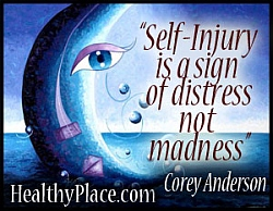 Self-injury is a sign of distress not madness
