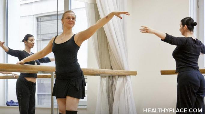 I've been taking online ballet classes to help with my schizoaffective anxiety. Read at HealthyPlace how ballet classes help with my schizoaffective anxiety.