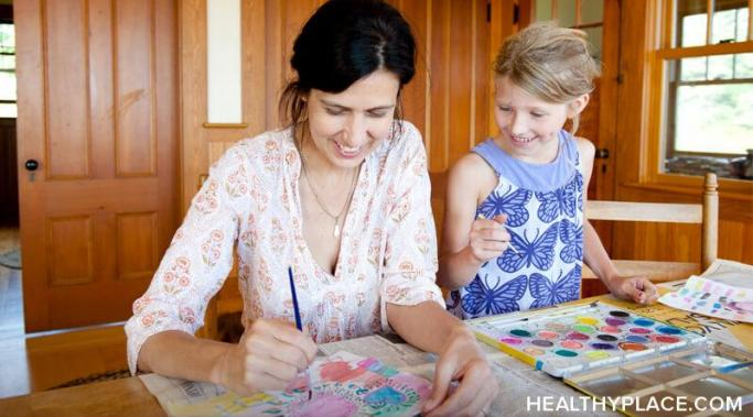 Discover the benefits of using arts-and-crafts time to treat your child's mental illness at HealthyPlace.