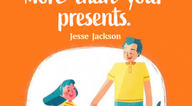 Co parenting quote by Jesse Jackson, Your children need your presence more than your presents.
