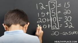 Does your child have a math learning disability? Get the signs, symptoms of dyscalculia, plus treatment information, on HealthyPlace.