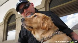 Specially-trained PTSD service dogs are available but can dogs really help with PTSD and can PTSD therapy dogs help in recovery? Find out on HealthyPlace.
