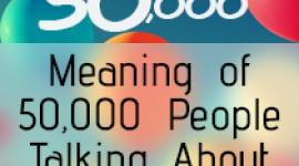 Meaning of 50,000 People Talking About Mental Health
